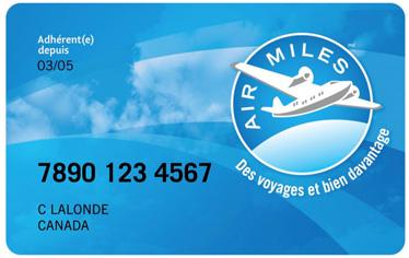Carte Air Miles - Services administratifs - Matériaux Anctil et Matériaux Magog